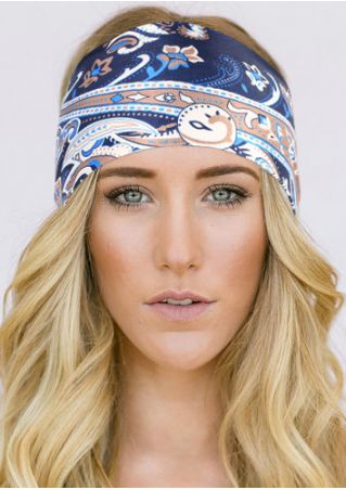 Multicolor Printed Stretchy Headband