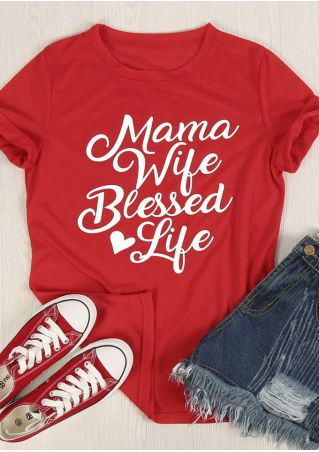 Mama Wife Blessed Life T-Shirt