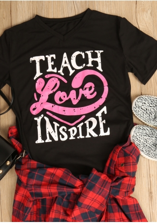 Teach Love Inspire V-Neck T-Shirt