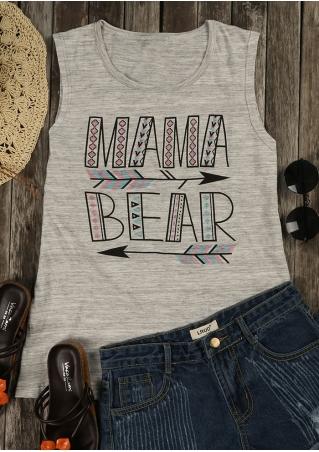 Mama Bear Arrow Geometric Tank
