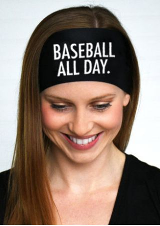 Baseball All Day Elastic Headband
