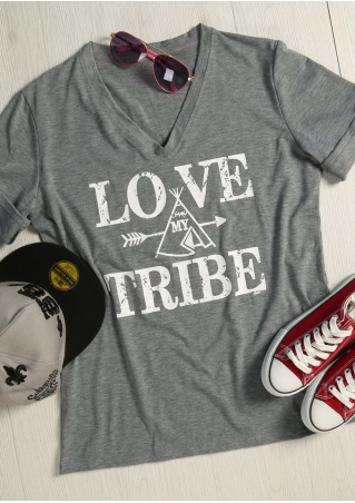 Love My Tribe Arrow V-Neck T-Shirt