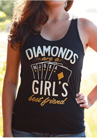 Diamonds Are A Girl's Best Friend O-Neck Tank