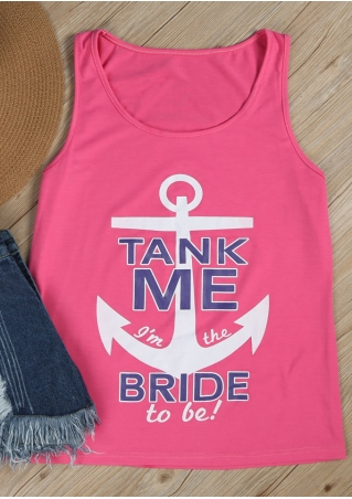 Tank Me I'm The Bride To Be Anchor Tank