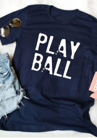 Play Ball O-Neck Short Sleeve T-Shirt