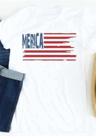 'Merica Flag Short Sleeve T-Shirt