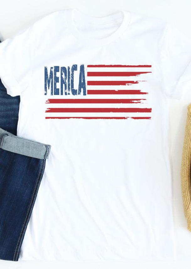 'Merica Flag Short Sleeve T-Shirt
