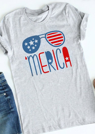 'Merica Flag Glasses T-Shirt