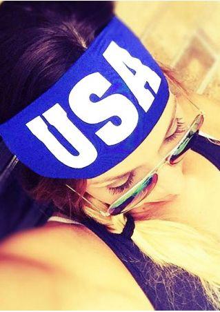 USA Printed Elastic Sport Headband