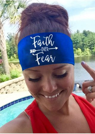 Faith Over Fear Elastic Headband
