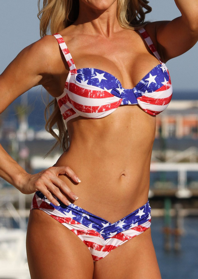 American flag kitchen - American Flag Printed Bikini Set Bellelily