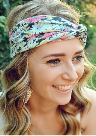 Floral Twist Elastic Sport Headband