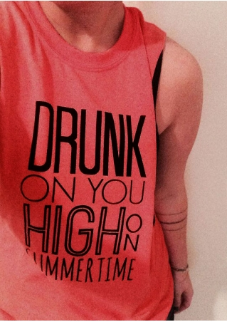 Drunk On You High On Summer Time Tank