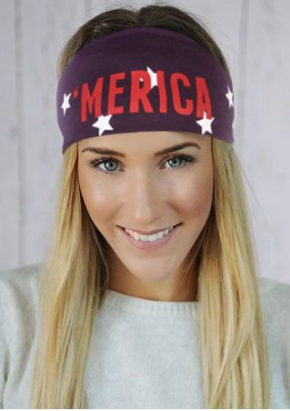 'Merica Star Printed Elastic Headband