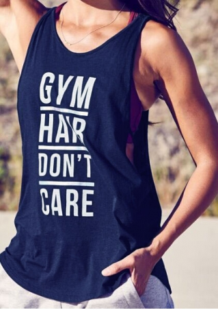 Gym Hair Don't Care Tank without Necklace