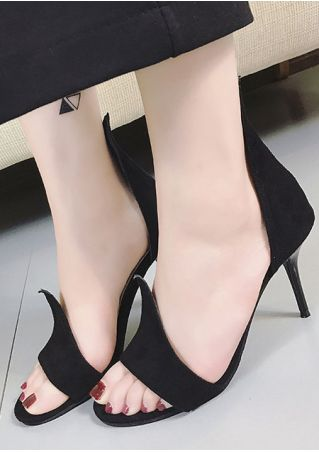 Solid Summer Heeled Sandals
