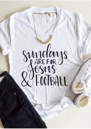 Sundays Are For Jesus & Football T-Shirt