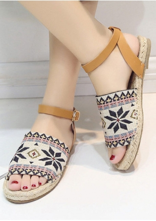 Ankle Strap Buckle Flat Sandals