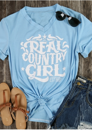 Real Country Girl V-Neck T-Shirt