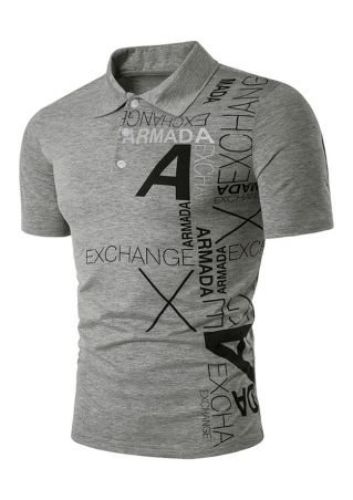 A Exchange Turn-Down Collar T-Shirt