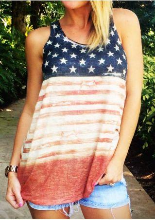 American Flag Striped Tank