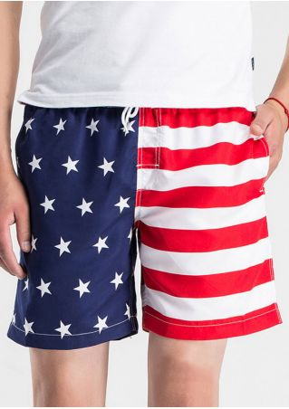 American Flag Star Pocket Shorts
