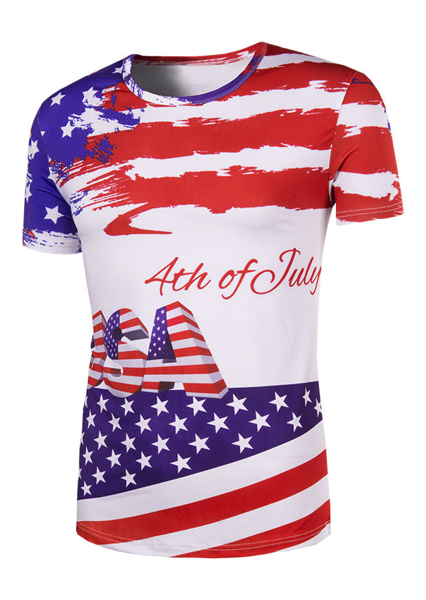 Usa 4th Of July American Flag T Shirt Bellelily