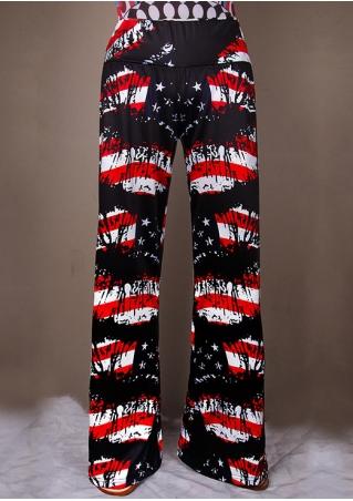 American Flag Wide Leg Pants