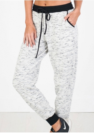 Splicing Drawstring Pants