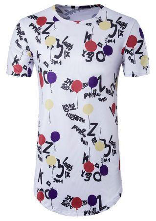 Balloon O-Neck Short Sleeve T-Shirt