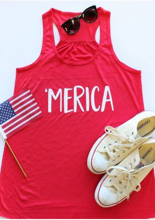 'Merica O-Neck Sleeveless Tank