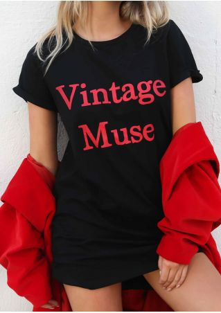 Vintage Muse O-Neck Short Sleeve T-Shirt