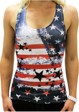 American Flag Star Striped Tank
