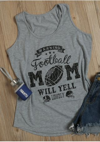 Warning Football Mom Will Yell Loudly Tank