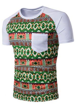 Geometric Pocket Baseball T-Shirt
