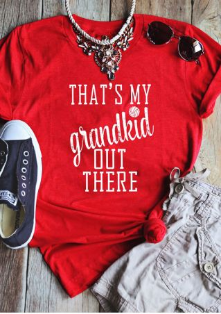 That's My Grandkid Out There T-Shirt without Necklace