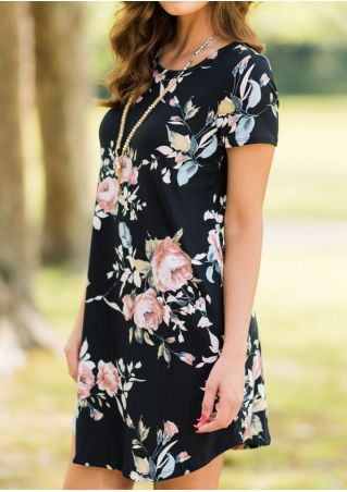 Floral Mini Dress without Necklace