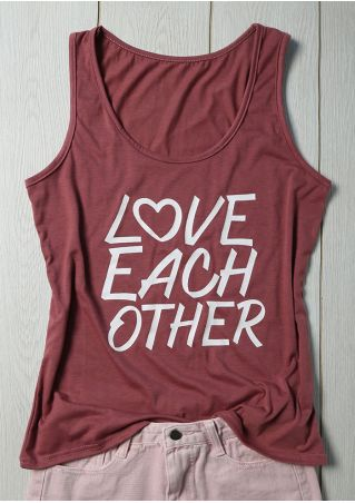 Love Each Other O-Neck Tank