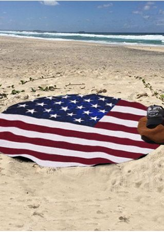 American Flag Printed Beach Blanket