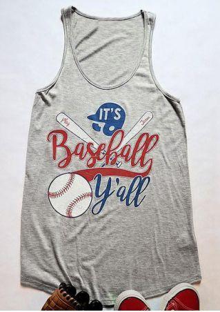 It's Baseball Y'all O-Neck Tank