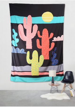Cactus Printed Rectangle Tapestry