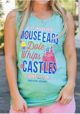 Mouse Ears Dole Whips & Castles Tank without Necklace