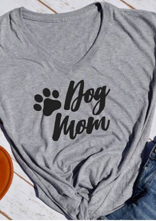 Dog Mom Short Sleeve T-Shirt