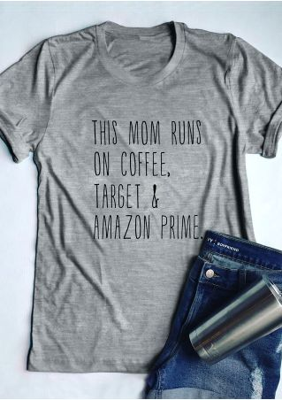 This Mom Runs On Coffee T-Shirt