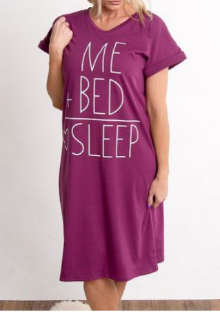 Me Bed Sleep O-Neck Dress