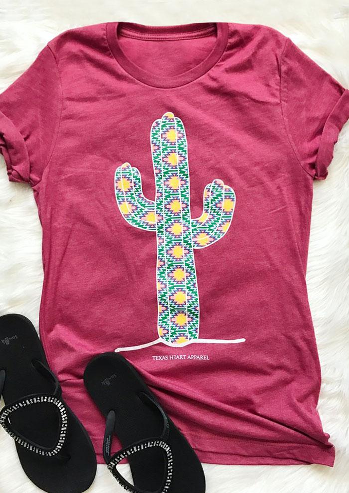 Texas Heart Apparel Cactus T Shirt Bellelily