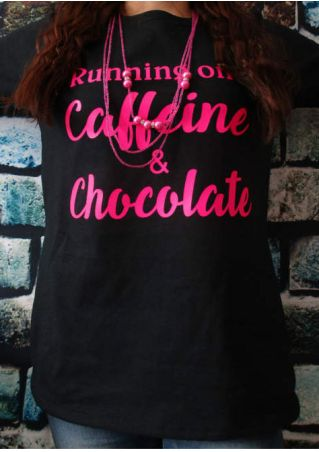 Running On Caffeine & Chocolate T-Shirt without Necklace