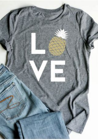 Love Pineapple Short Sleeve T-Shirt