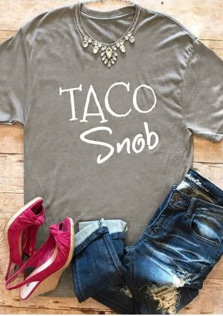 Taco Snob Short Sleeve T-Shirt without Necklace