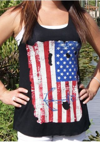American Flag Anchor Tank